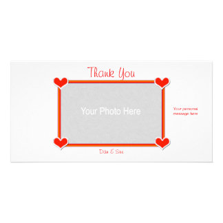 Thank You Hearts 4 You Personalized Photo Card