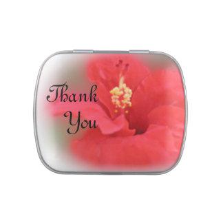 Thank You Hibiscus Candy Tin