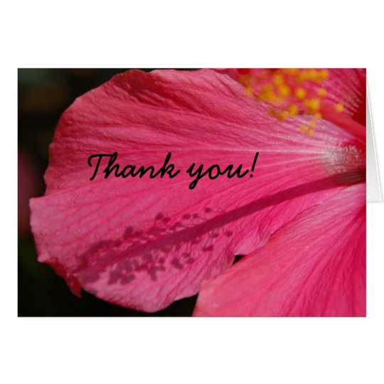 THANK YOU Hibiscus Card
