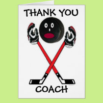 Thank You Hockey Coach Card