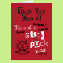 Thank You Hockey Coach! Greeting Card