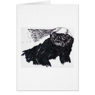 Thank You Honey Badger Greeting Card