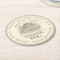 Thank You Honey Skep Promotional Coaster