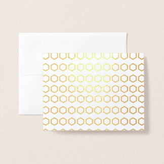 Thank You Honeycomb Pattern Foil Card