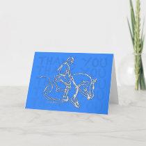 Thank You Horse! Card - Blue