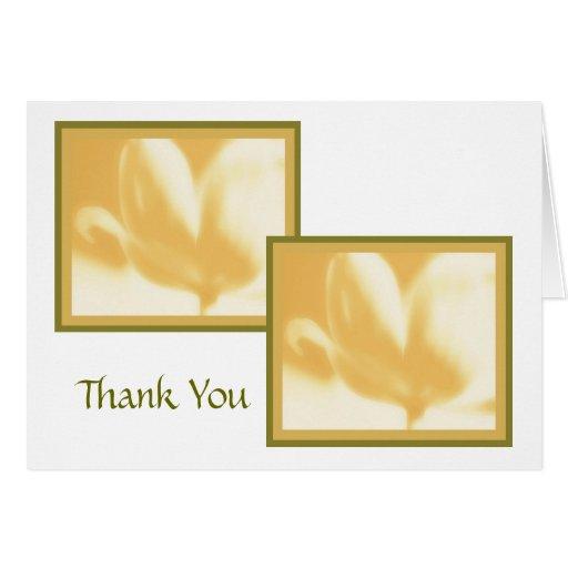 Thank You (Hospitality) Card Template; Honey Dijon