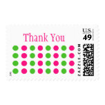 Thank You (Hot Pink / Lime Green Stamp) Postage