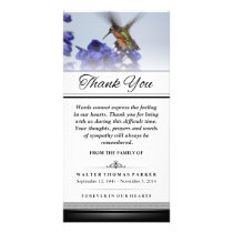 Thank You Hummingbird Words Cannot Express II Card