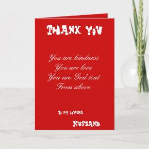 Husband Thank You Cards Zazzle