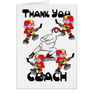 Thank you Ice Hockey Coach Greeting Cards