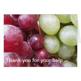 Thank you, I'm Grapeful Card