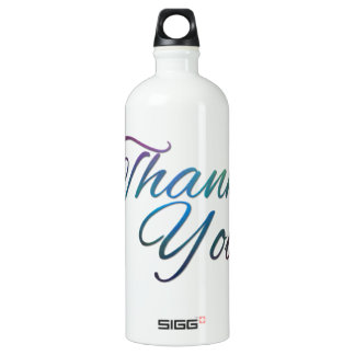 Thank You Images Aluminum Water Bottle