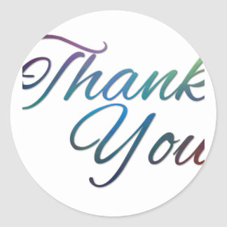 Thank You Images Classic Round Sticker