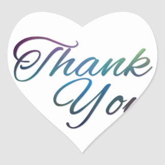 Thank You Images Heart Sticker