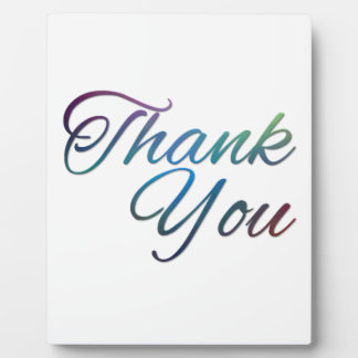 Thank You Images Plaque