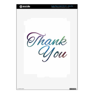 Thank You Images Decals For iPad 3