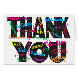 Thank You in Any Language Stationery Note Card