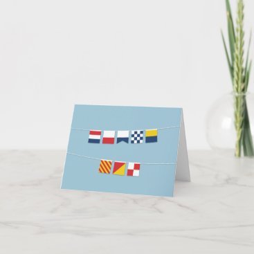 THANK YOU in Colorful Nautical Flags