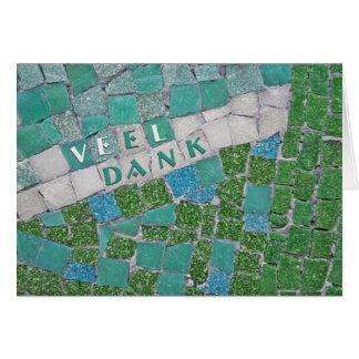 Thank You in Dutch Greeting Card