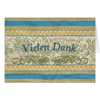 Thank You in German, Vielen Dank Greeting Cards