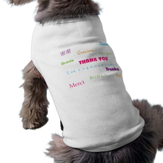 Thank You in Many Languages Colorful T-Shirt