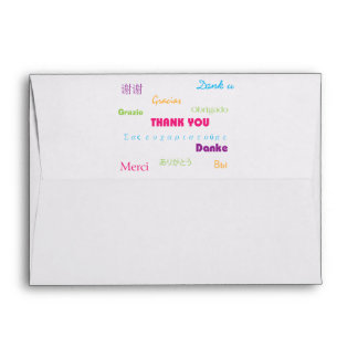 Thank You in Many Languages Envelope