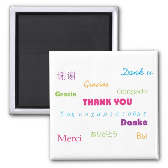 Thank You in Many Languages Magnet