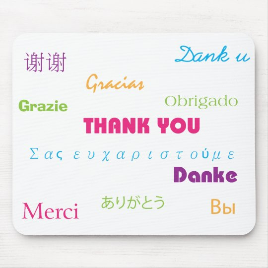 Thank You in Many Languages Mousepad