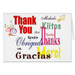 Thank You in Many Languages Note Card