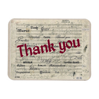 Thank You in Many Languages on Beethoven Score Magnet