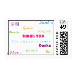 Thank You in Many Languages Postage Stamp