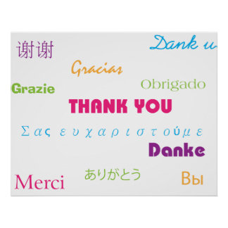Thank You in Many Languages Poster