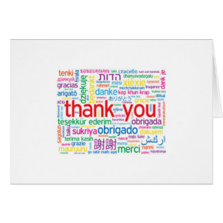 """THANK YOU IN MANY LANGUAGES """"THANK YOU"""" CARD"""