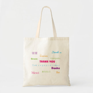 Thank You in Many Languages Tote Bag