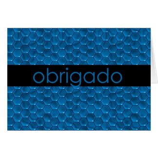 Thank You in Portuguese Obrigado Greeting Card