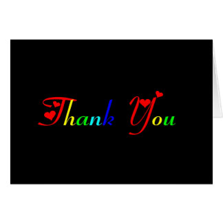 Thank You in Rainbow Colors 433 Card