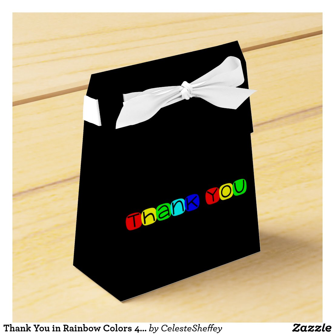 Thank You in Rainbow Colors 434 Favor Box
