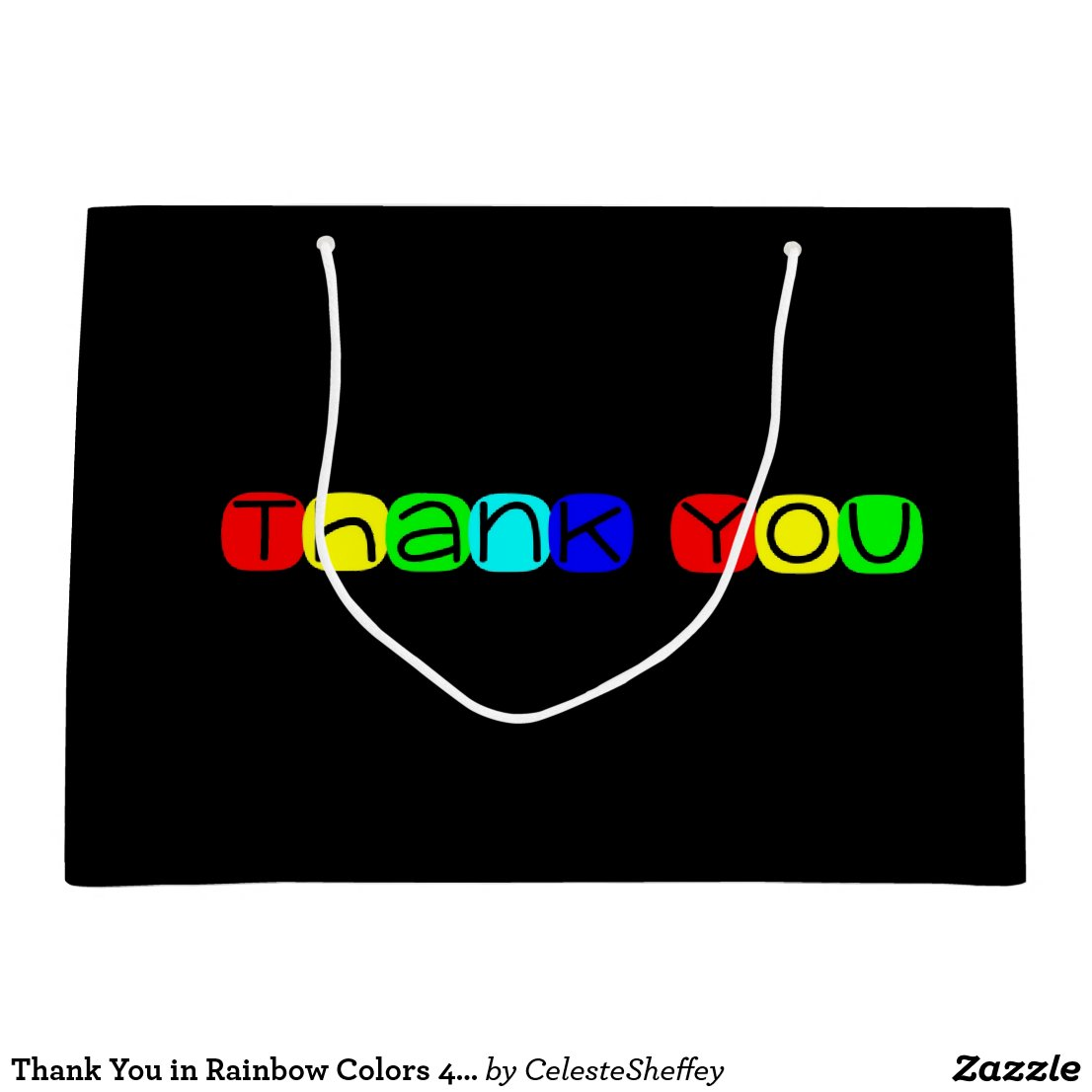 Thank You in Rainbow Colors 434 Large Gift Bag