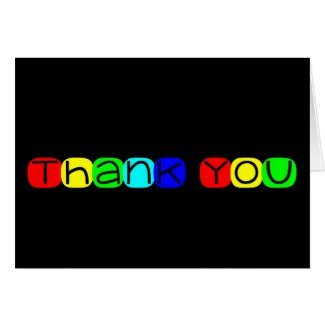 Thank You in Rainbow Text 434 Card