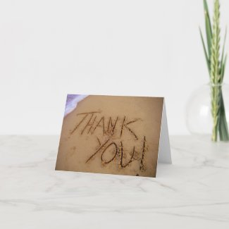 Thank You in sand card