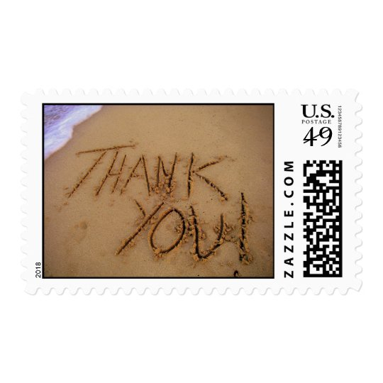 Thank You in Sand Postage