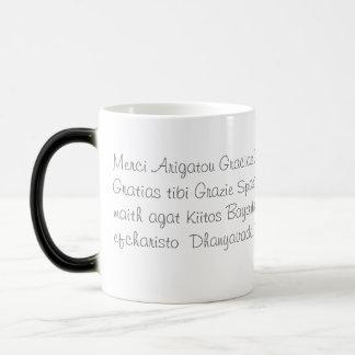 Thank you in several languages magic mug
