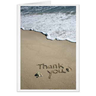 Thank you in the Sand Card