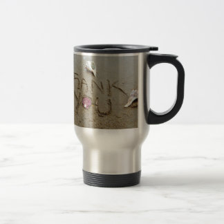 Thank you in the sand shells & beach mugs