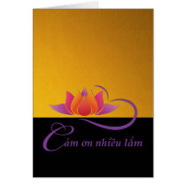 Thank You in Vietnamese, Cam on nhieu lam, Lotus Card
