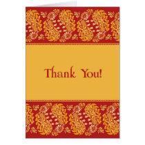 Thank You Indian Wedding Folded Card