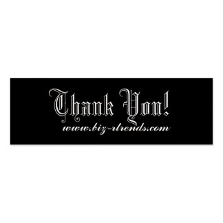 Thank you indulge Double-Sided mini business cards (Pack of 20)