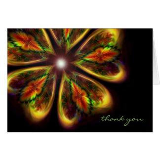 """Thank You ~ """"infinity's garden"""" fractal art card"""