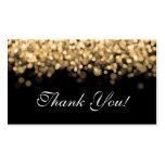 Thank You Insert Gold Lights Business Card
