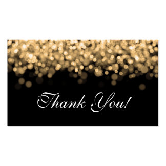 Thank You Insert Gold Lights Business Card Template